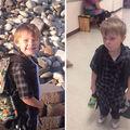20 de imagini amuzante cu copii înainte și după prima zi de școală