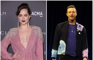 Dakota Johnson și Chris Martin