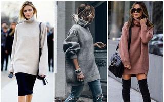 Cum să porți un pulover supradimensionat. 30 de idei