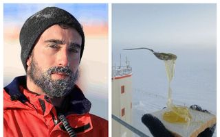 Ce se întâmplă dacă încerci să mănânci în gerul de la Polul Sud: Te ia cu frig!