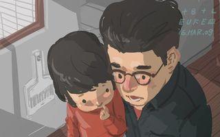 Viaţa unui tată singur, în imagini. 30 de ilustraţii emoţionante