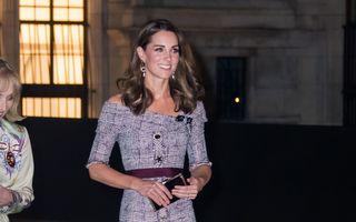 Kate Middleton, într-o rochie sexy în timpul unei vizite la muzeu