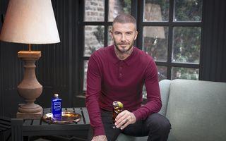 Paharul sus! David Beckham face reclamă la whisky