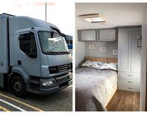 Căsuța pe roți: Un cuplu a cheltuit 25.000 de dolari ca să transforme un camion într-un cămin mobil