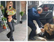 Coșmarul unui supermodel: Elle Macpherson s-a împiedicat și a căzut pe stradă - VIDEO