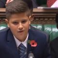 Discurs superb al unui copil din România în Parlamentul britanic - VIDEO