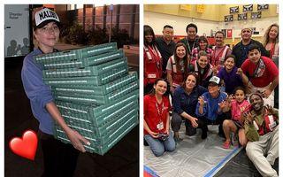 Ghici cine bate la ușă: Lady Gaga a adus pizza și cafea pentru sinistrații din California