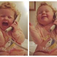 Crazy Daisy, fetița de 3 ani care a cucerit lumea prostindu-se la telefon - VIDEO