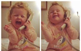 """Crazy Daisy, fetița de 3 ani care a cucerit lumea """"prostindu-se"""" la telefon - VIDEO"""