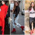 Cum să porți botinele roșii - 20 de outfituri