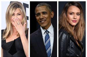 Jennifer Aniston, Barack Obama, Jessica Alba