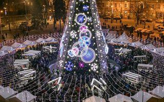 Cel mai frumos brad de Crăciun: Instalația luminoasă are 5 kilometri lungime