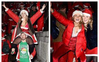Moș Crăciun a luat-o la ureche: Haos pe străzi după începerea petrecerilor de sărbători în Anglia - FOTO