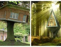 13 case în copaci, așa cum n-ai mai văzut. Arată ca-n povești!