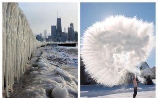 America a încremenit de frig: 25 de imagini incredibile care arată cum lovește Vortexul Polar