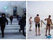 Două lumi, aceeași iarnă: America dârdâie, rușii se distrează în pielea goală - FOTO