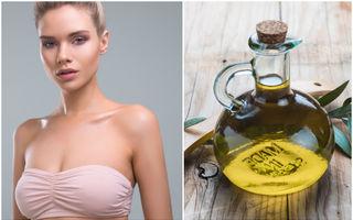 Poate uleiul de măsline să-ți facă sânii mai mari și mai fermi?