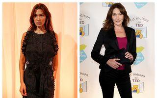 """Bella Hadid și Carla Bruni, """"gemenele"""" nepereche: Asemănările dintre ele sunt izbitoare"""