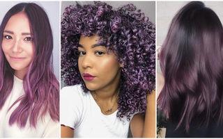 """""""Aubergine"""", nuanța mov de păr care a cucerit Instagram"""