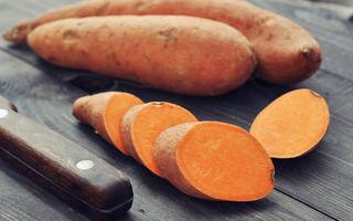 Cartofii dulci au de 1000 de ori mai multă vitamina A decât cartofii normali