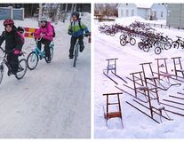 La școală, în Finlanda: Copiii vin cu bicicleta pe zăpadă, la -17 grade, dar nimeni nu se plânge