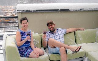 Iarna poate fi ca vara! 15 imagini amuzante cu oameni care nu se tem de frig