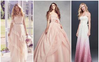 Se poartă rochiile de mireasă roz. 20 de modele din care să te inspiri