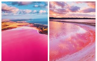 Minunile naturii: 20 de imagini superbe cu lacul roz care îi fascinează pe turiștii din toată lumea