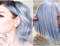 Albastru lavandă, nuanța pastelată pentru păr care se poartă în 2019