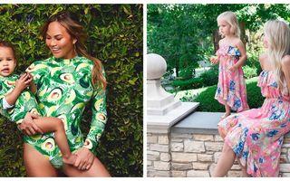 20 de mame celebre şi sosiile lor în miniatură: Poartă haine la fel şi sunt adorabile