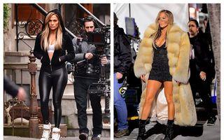 O zi de muncă din viața unei vedete: Jennifer Lopez, dansatoarea de striptease care atrage toate privirile pe stradă