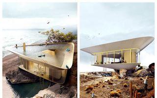 Proiect avangardist de locuință: Casa cu piscină pe acoperiș, ideea unui arhitect cu imaginație