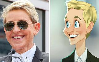 Un artist transformă celebritățile în personaje de animație, iar rezultatele sunt uimitoare