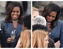 Momentul în care Michelle Obama află că arde Notre-Dame: Soția lui Barack Obama se afla într-o croazieră pe Senna - FOTO