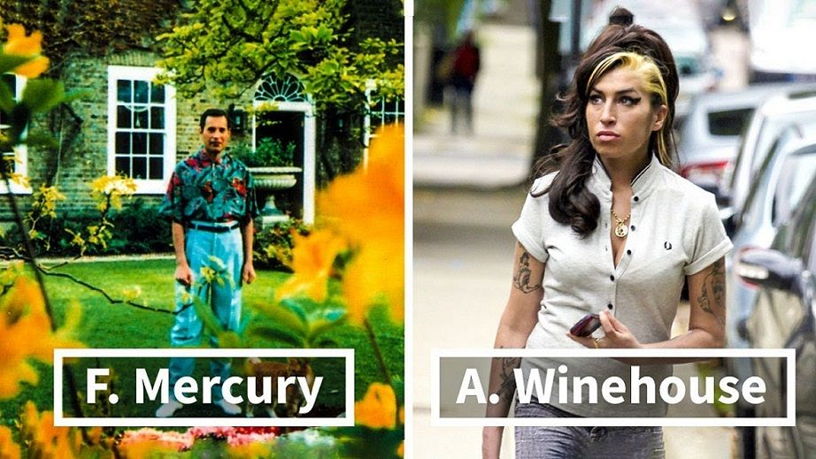 Freddie MErcury, Amy Winehouse
