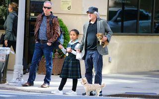 Robert De Niro, un tătic cu părul alb: Starul în vârstă de 75 de ani și-a luat fiica de la școală - FOTO