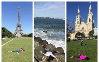 """Protest anti-selfie al unei tinere: E """"moartă"""" după destinațiile în care turiștii se pozează"""
