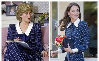 Bunul gust nu se demodează niciodată: Kate Middleton a purtat o rochie care amintește de Prințesa Diana