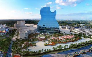 Hotelul în formă de chitară, atracția verii în Florida: Ieși din cameră direct la concert!