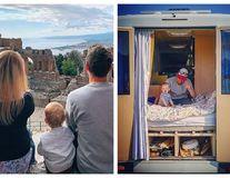 Acasă, în microbuz: Cuplul care a vizitat 166 de țări cu un bebeluș și un câine la bord - FOTO