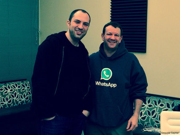 Jan Koum și Brian Acton (WhatsApp)