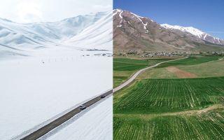 Cum se vede Turcia de sus iarna și vara: O țară, două anotimpuri