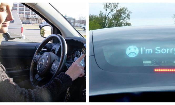 ecran LED mașină