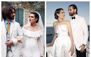 Nuntă ca-n povești: Charlotte Casiraghi, nepoata legendarei Grace Kelly, o prințesă strălucitoare în rochia de mireasă