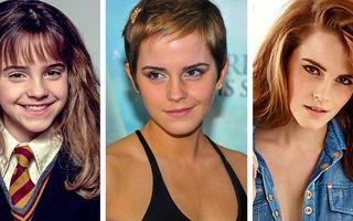 Cum s-au schimbat femeile frumoase din copilărie și până azi: Emma Wattson, ce transformare!