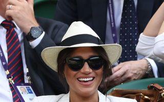 Meghan Markle a susținut-o pe Serena Williams la Wimbledon. Cum arată ducesa la 2 luni după naștere și ce ținută a ales