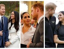 """15 imagini în care Meghan Markle îl soarbe din priviri pe Harry: """"Al meu ești!"""""""