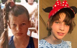 Înapoi în viitor: 12 imagini cu vedetele și copiii lor, făcute la aceeași vârstă