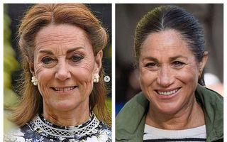 Meghan Markle și Kate Middleton, pline de riduri: Cum arată ducesele îmbătrânite cu FaceApp