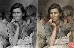 mama și copii, Marea Criză